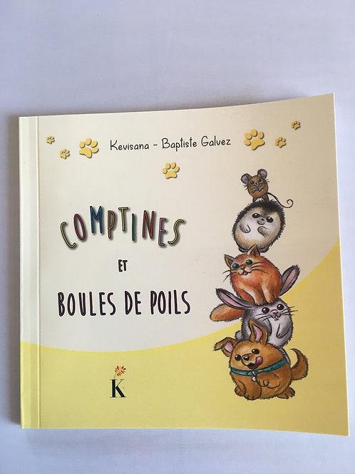 """Livre enfant """"Comptines et boules de poils"""""""