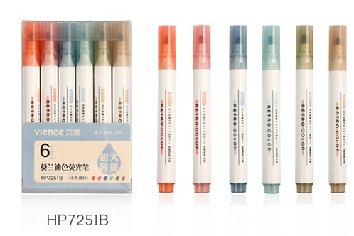 6pc pf Soft Color Vience Markers