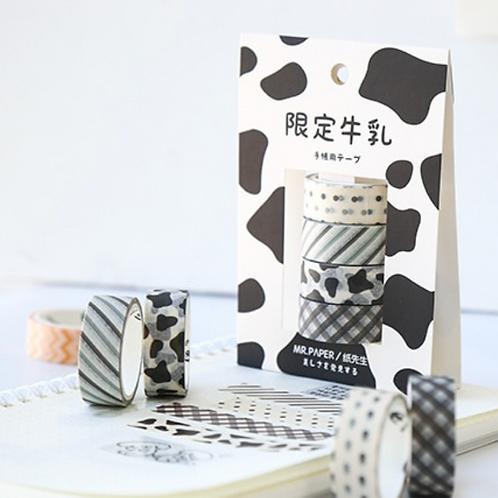 Black & White Pattern Washi Tape Set