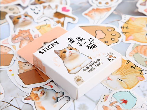 Kawaii Cat Sticker Box