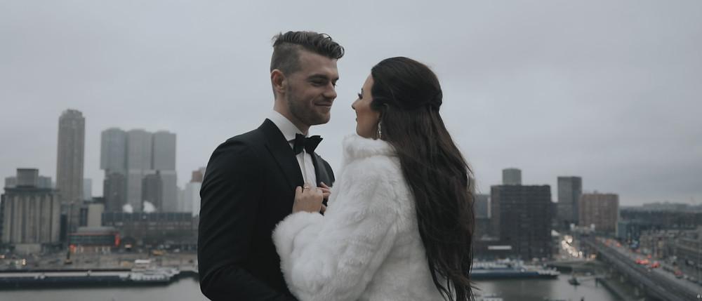 bruid in bontjas