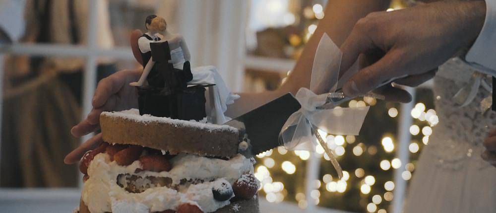 winterbruiloft taart | bruidstaart