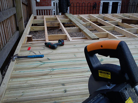 softwood decking and exposed framework u