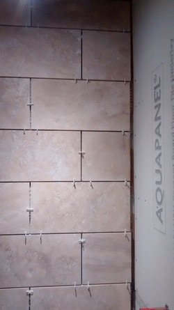 TILING IN THE BATHROOM