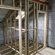 A stud wall framework - first fix constr