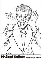 Mr Snot bottom Coloring Sheet  thumbnail