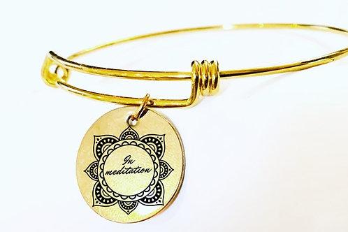 In Meditation Gold Charm Bracelet