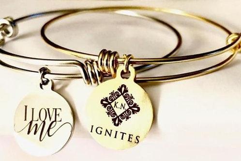 I Love Me Gold Charm Bracelet