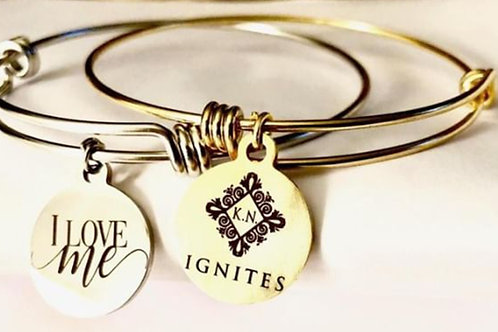 I Love Me Silver Charm Bracelet