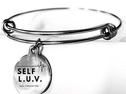 Self  L. U. V. Silver Charm Bracelet