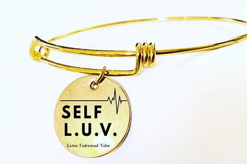 Self  L. U. V.  Gold Charm Bracelet