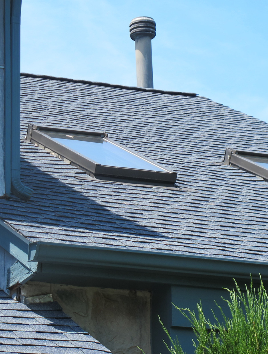 DETAIL OF NEW ROOF INSTALL