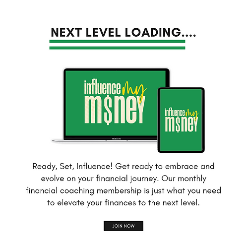 Influence My Money Coaching Program