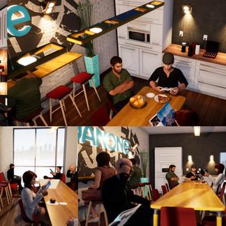 DANONE | Esquisse et concept d'aménagement