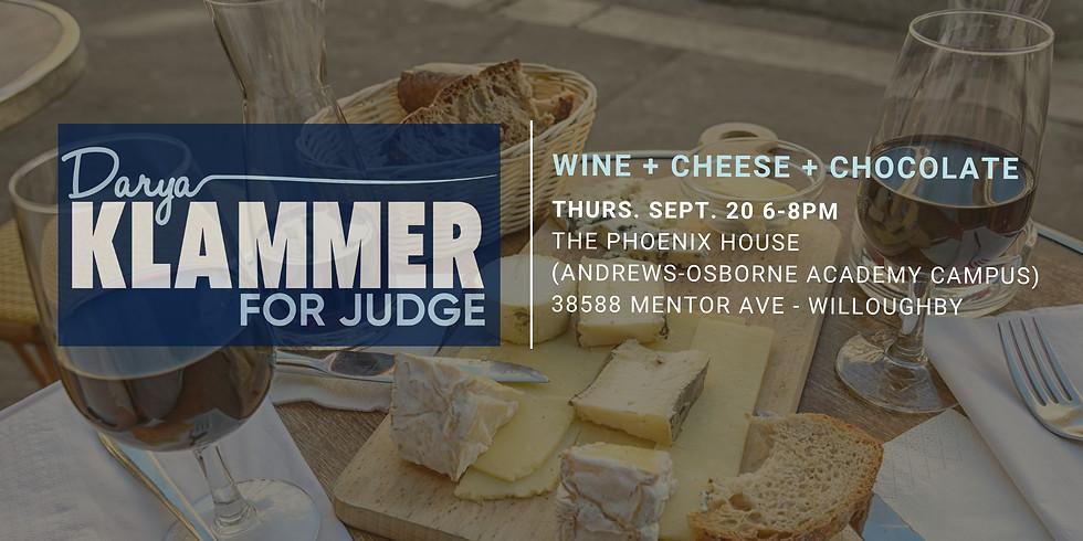 Darya Klammer for Judge- Wine+Cheese+Chocolates