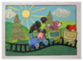 Paper piecing, card, kort, korttillverkning, barnkort