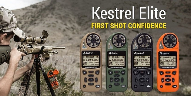 Kestrel 5700 weather meter and ballistics calculator