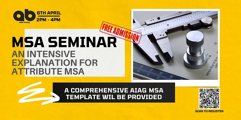 MSA Seminar on Attribute MSA - A Complete Teardown of AIAG Approach