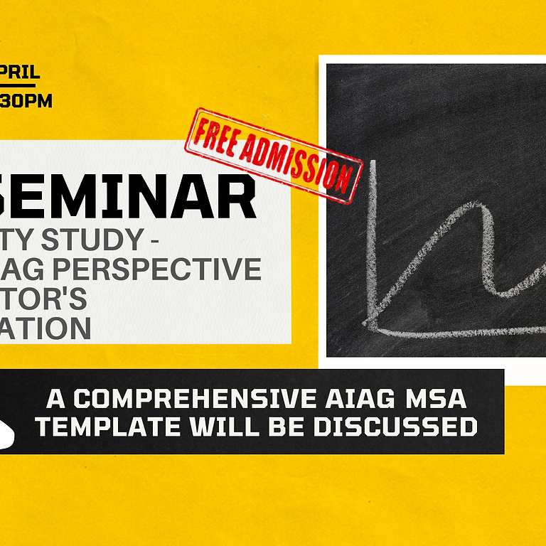 MSA Seminar on Linearity Study - FROM AIAG PERSPECTIVE TO AUDITOR'S EXPECTATION