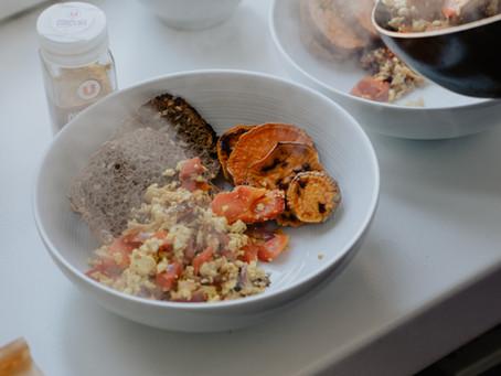 The new breakfast staple - tofu scramble