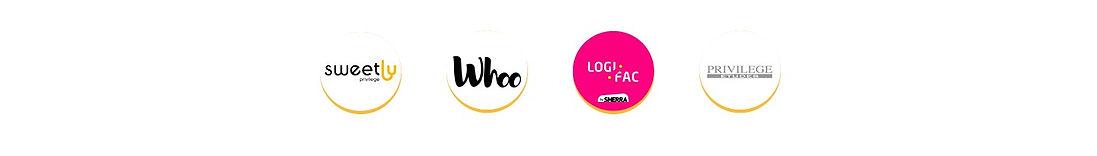 Les logos des résidences universitaires partenaires avec Flips.