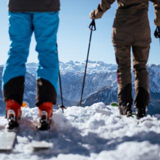 Skifahren am Loser