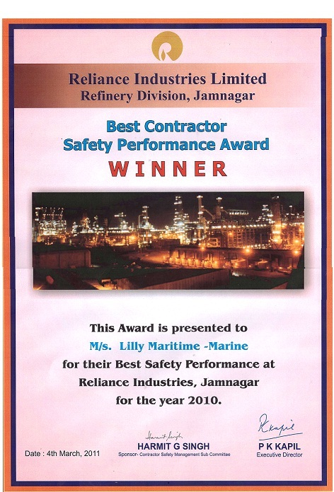 Safety performance awards (1)
