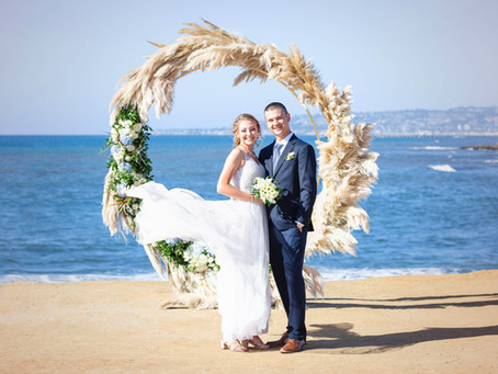 Sunny Sunset Cliffs Elopement, San Diego, Pacific Beach
