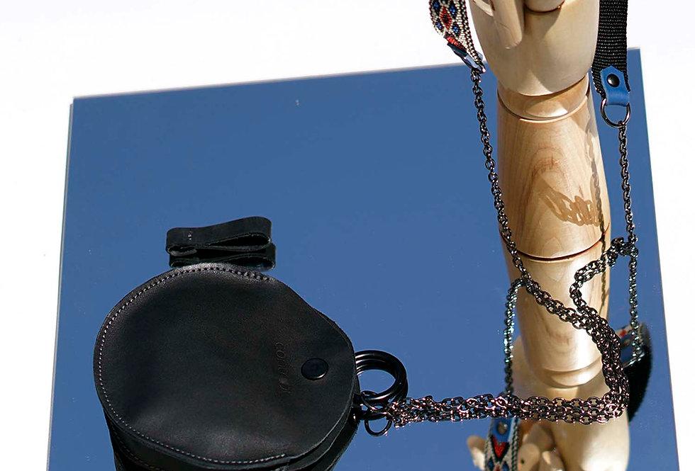 Black dot purse