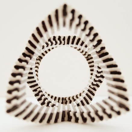 Partial Cylinder (Black & White)