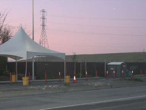 Drive-Thru Testing Center Opens in Fremont