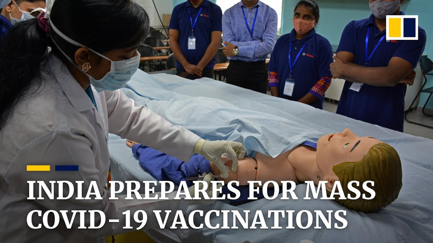 India trains workers to handle Covid-19 mass vaccination program