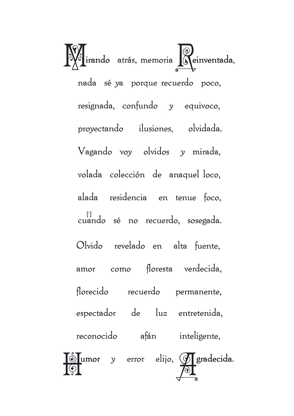 retrogradísimo soneto