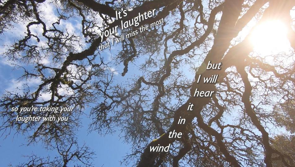 I will hear it in the wind