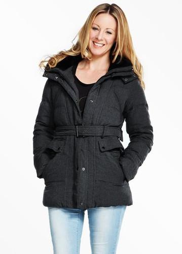 f481cdecf1031 3-in-1 Maternity & Babywearing Medium Length Down Coat