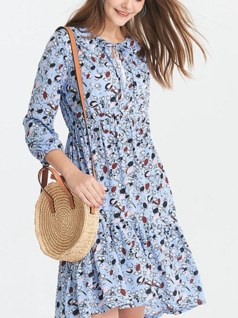 Spring Flora Maternity/Nursing Dress