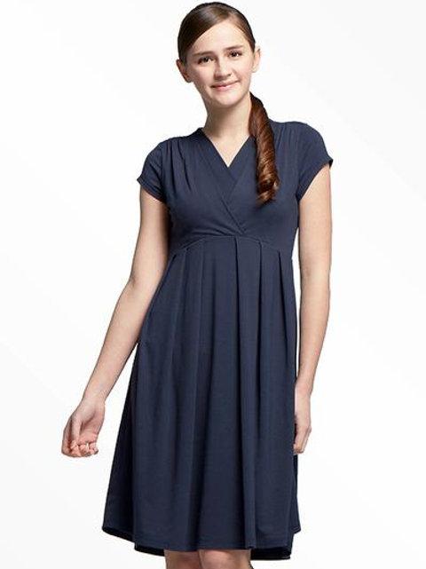 V-neck High Waist Maternity/Nursing Dress