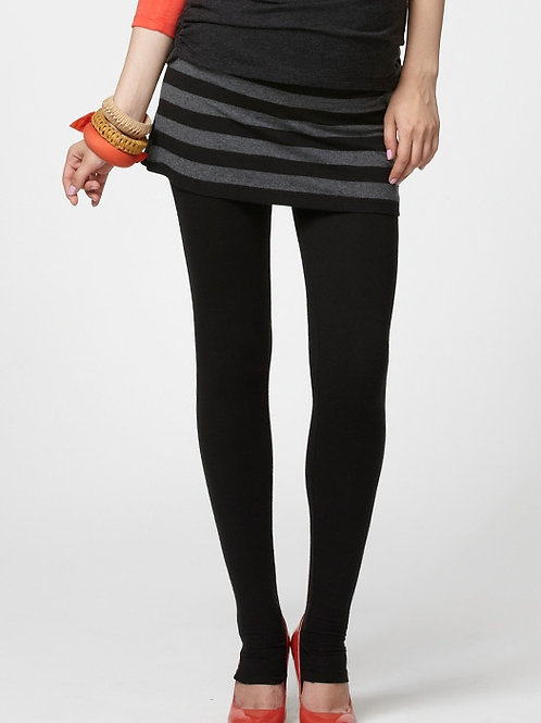 Thermal Maternity Leggings with Striped Skirt