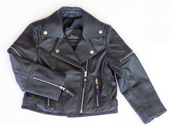 Oil Black Zip Leather Biker Jacket | Available Now