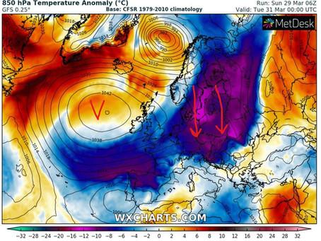 Další vpád arktického vzduchu, do hor se vrátí sněžení