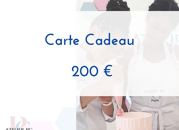 Carte cadeau - 200