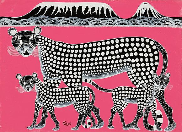 Cheetah family/Kilimanjaro