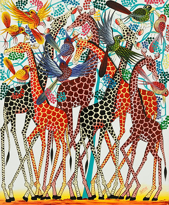 Giraffe/Bird/Flower