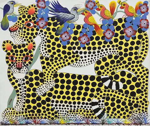 Panther / Bird / Flower