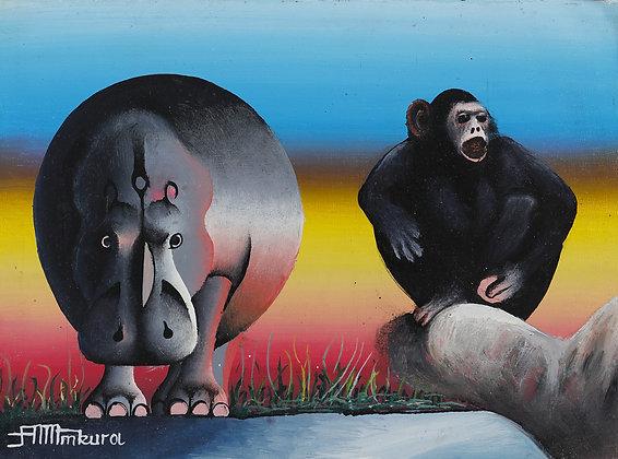 Rhinoceros / Chimpanzee