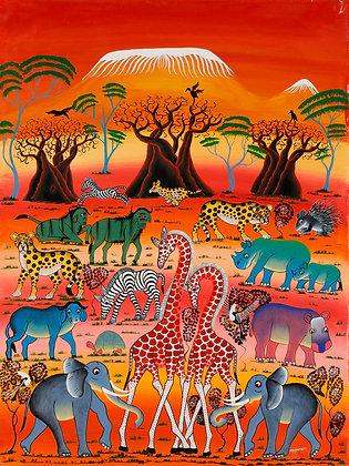 Animals/Kilimanjaro/Baobab/Sunset
