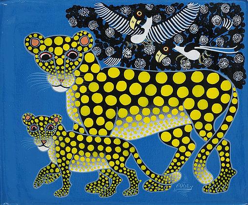 Cheetah family/Bird