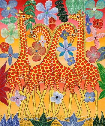 Giraffe/Flower