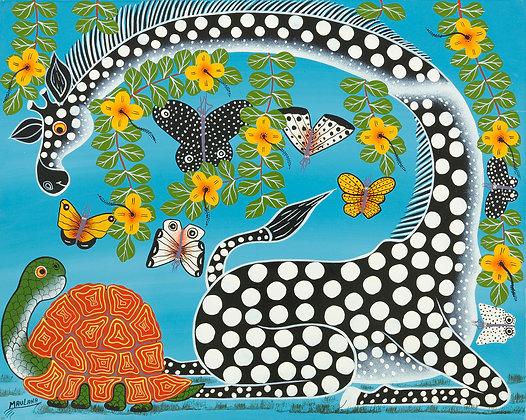 Giraffe/Turtle/Butterfly