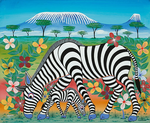 Zebra family/Kilimanjaro